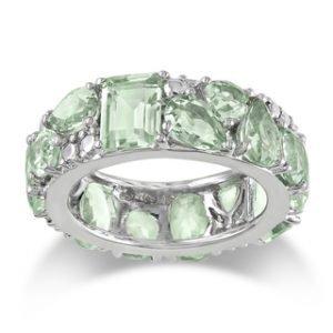 Miadora-Sterling-Silver-Green-Amethyst-Ring