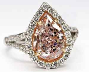 colored diamond ring