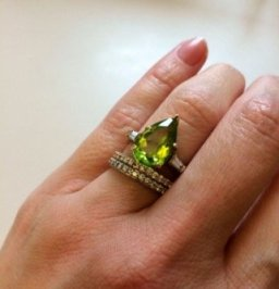 peridot ring engagement