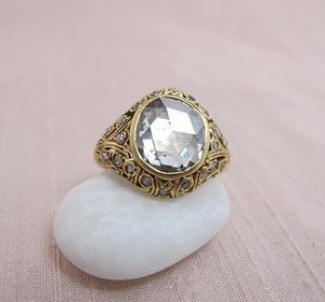 2.00ct Antique Rose Cut Diamond Dome Ring 7-S