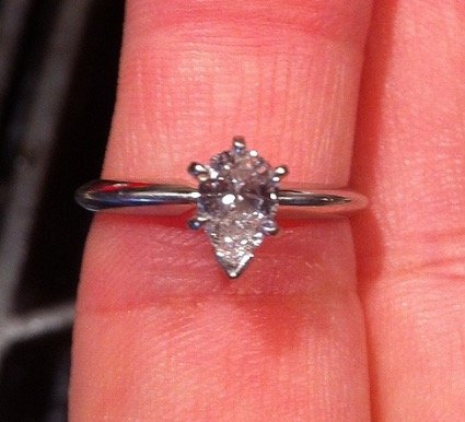 pear shaped solitaire