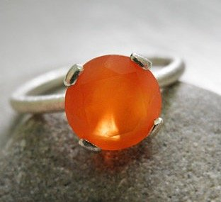 engagement-carnelian-ring-vintage-inspired-classic-orange-ring-sterling-silver-ring-bridal-jewelry