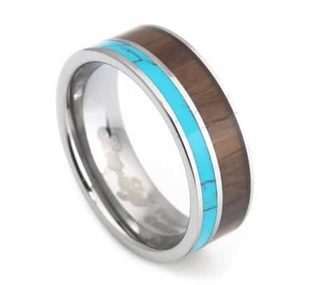 turquoise-hawaii-koa-inlay-mens-tungsten-wedding-rings-8mm