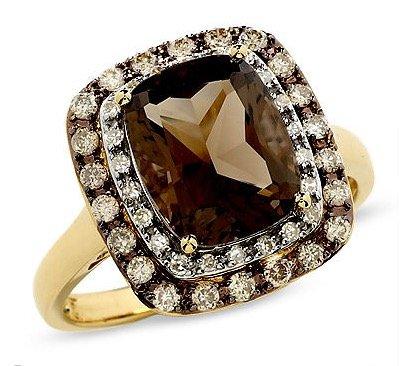 cushion-cut-smoky-quartz-ring