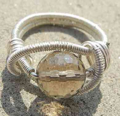 capricorn-smoky-quartz-ring-wire-wrapped-ring-grey-brown-ring-faceted-gemstone-ring