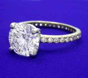 3 Carat Round Brilliant Cut Diamond ring