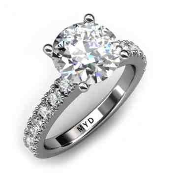 Infinity Round Brilliant Cut Diamond Ring