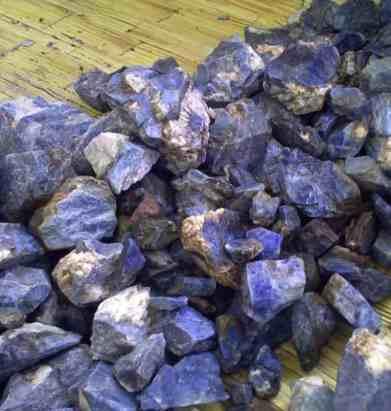 blue corundum from malawi