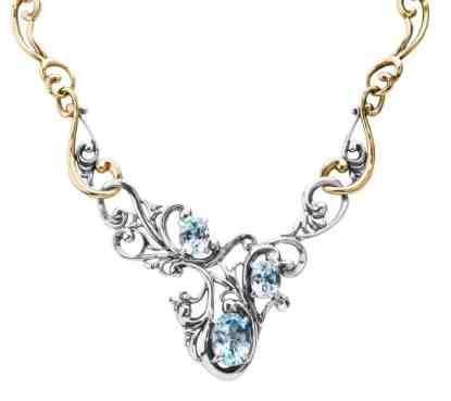 carolyn pollack Harmony Blue Topaz Statement Necklace
