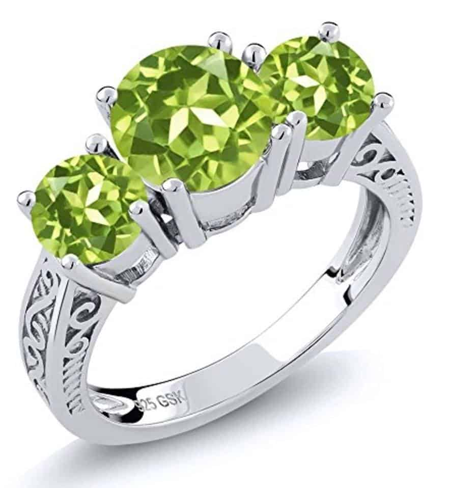 Choosing The Perfect Peridot Engagement And Wedding Ring
