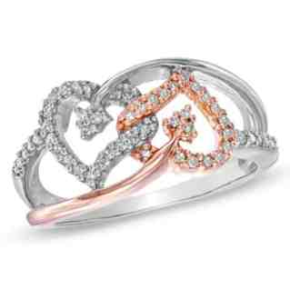 interlocking heart promise rings