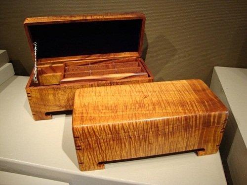 koa wood jewelry box Love You Tomorrow