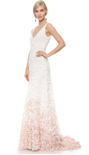 Emma Embroidered Petal Gown