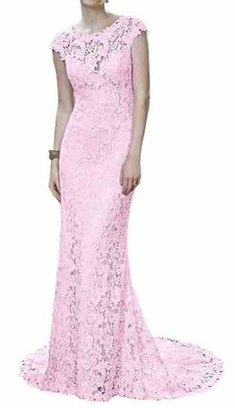 MILANO BRIDE Retro Wedding Anniversary Dress Sheath Lace Sleeves Evening Gown review