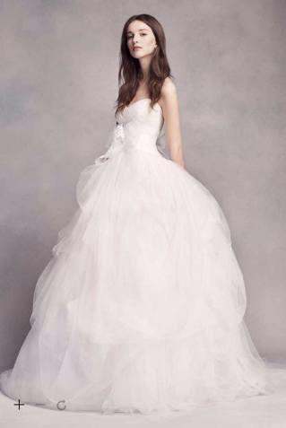 White by Vera Wang Hand-Draped Tulle Wedding Dress