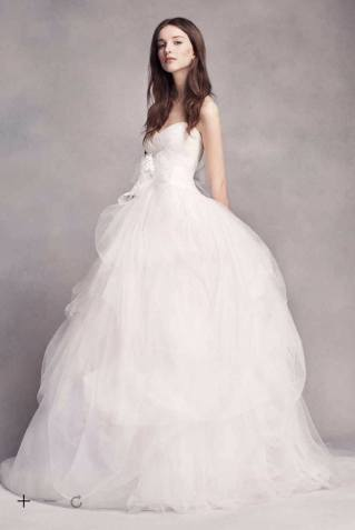 White by Vera Wang Hand-Draped Tulle Wedding Dress