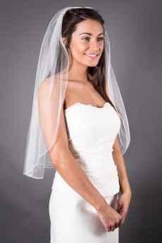 elbow length veil
