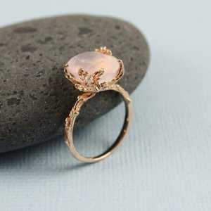 rose gold gemstone rings jewelry