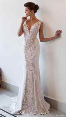 v neck wedding dress