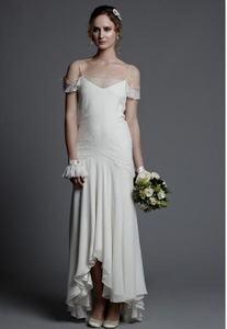 20's style wedding dress