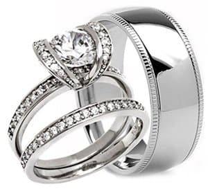3 piece wedding set milgrain
