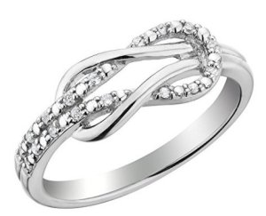 love knot diamond promise ring