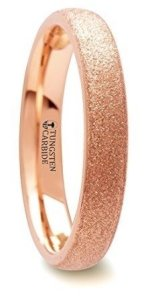 sandblasted rose gold wedding band