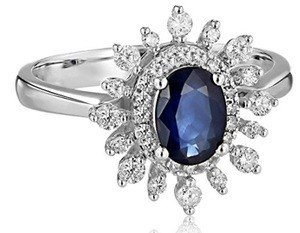 sapphire sunburst engagement