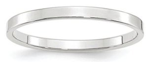 womens thin band satin finish
