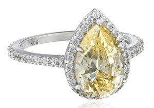 yellow swarovski pear shaped