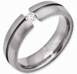 tension set diamond titanium