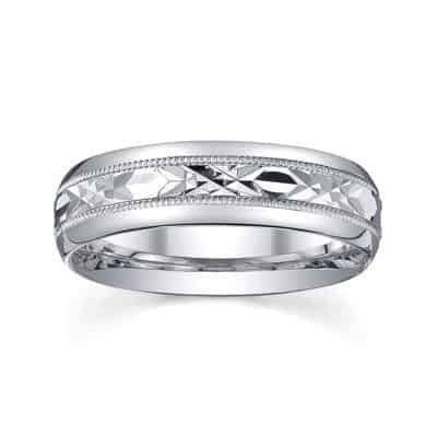 silver men wedding ring