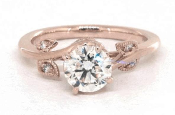 14 rose gold ring