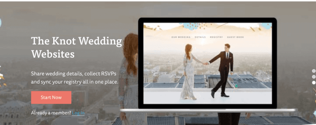 the Knot Wedding Websites