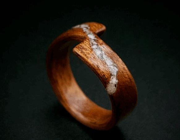 wooden mahogany ring
