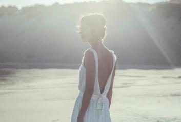 espalda vestido romántico novia