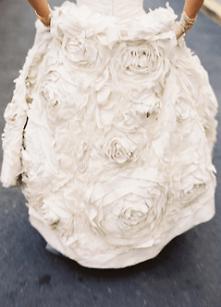 falda flores novia