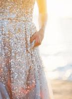 falda brillos novia