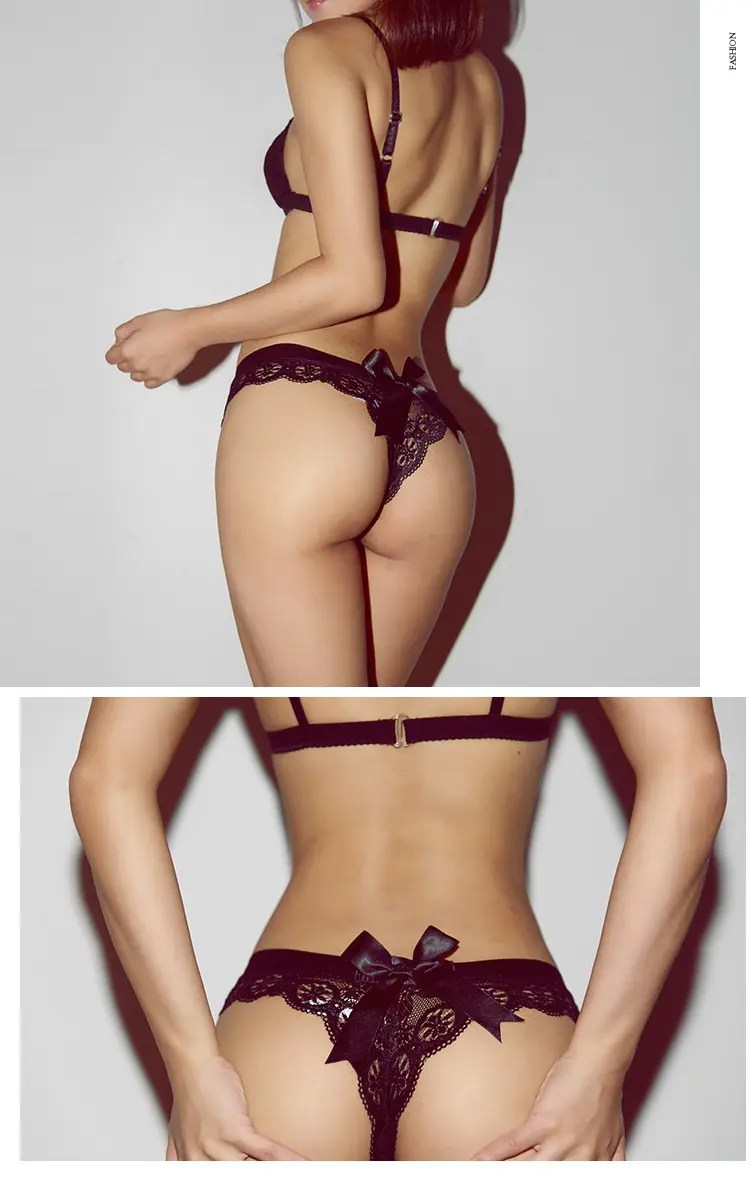 Women's Solid Laced Thong