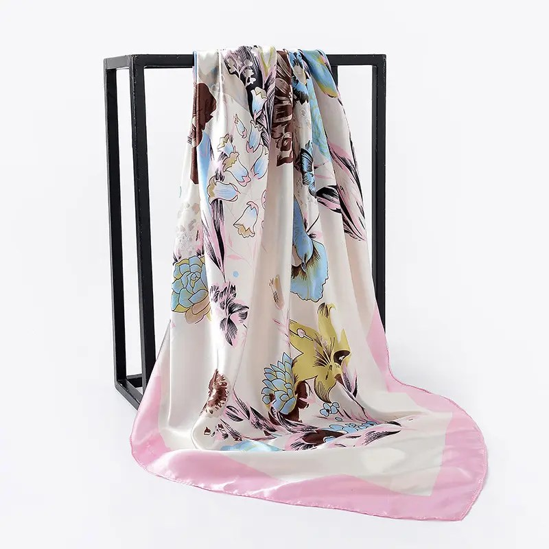 Women's Colorful Patterned Square Scarf