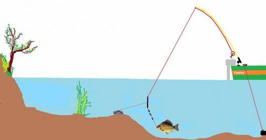 Ловля карпа с лодки на донку