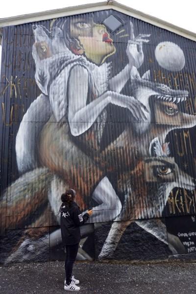 werewolf street art