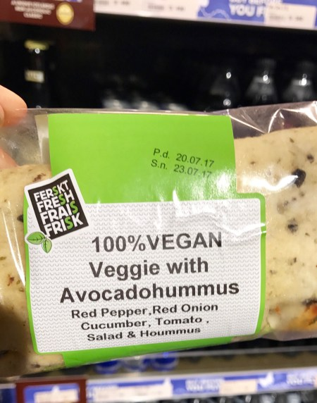 Veggie with Avocado Hummus at Keflavik Airport