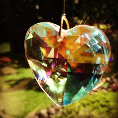 Crystal Heart Reflection