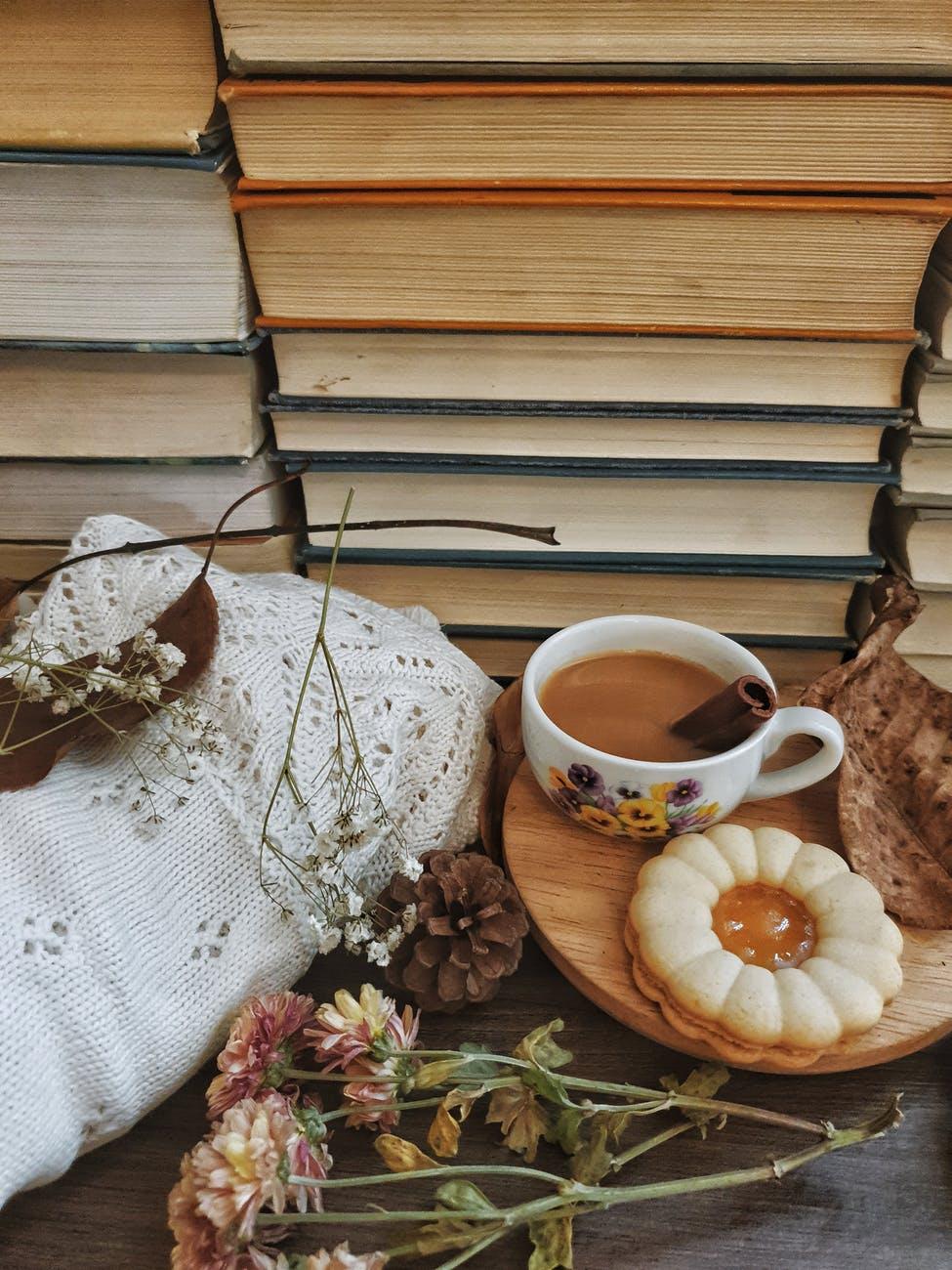 white ceramic mug on brown wooden tray