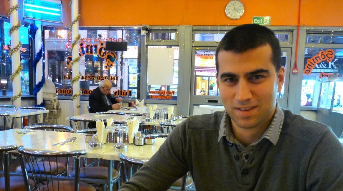 Gurkan Bozdere who, with his father, runs the Sömine restaurant at Crossways in Kingsland High Street, Lon E8