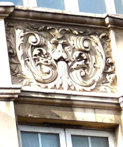 Art Nouveau balcony N side Kingsland High St Lon E8