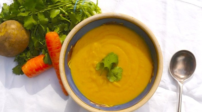 Carrot and coriander soup), Ridley280912