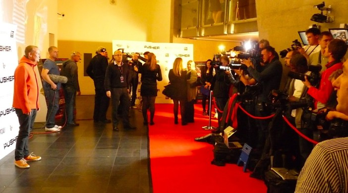 Member of Orbital(?) band @ Hackney Picturehouse for launch of 12012 film Pusher © David Altheer