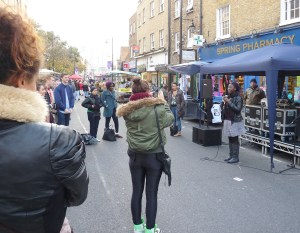 Above, Hoxton market's attempt to lure hipsters last year, 2011